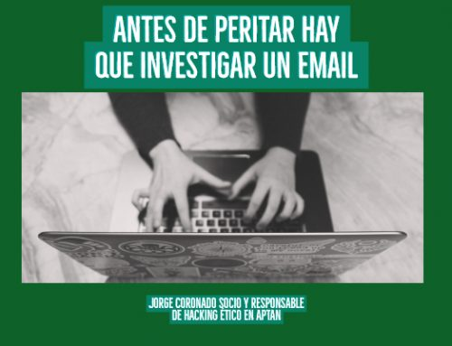Antes de peritar hay que investigar un correo electrónico